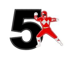 Red Power Rangers Birthday Number 5 Applique Embroidery Design Power Rangers Logo, Minnie Mouse Cake Topper, Power Ranger Birthday, Birthday Numbers, Applique Embroidery Designs, Number 5, Symbols, Handmade Gifts, Red