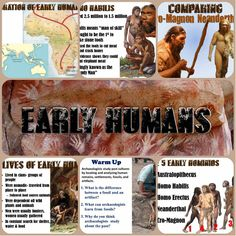 This excellent, visually engaging PowerPoint covers early human origins, including Australopithecus, Homo Habilis, Homo Erectus, Neanderthals, Cro-Magnon man, and Homo Sapiens!   Each of the 22 slides includes fantastic images and easy-to-follow notes that focus students in on important concepts. Important vocabulary is described as well as several slides on each of the early hominids.