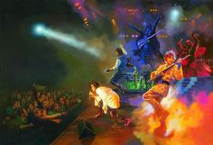 All your favorite Star Wars rockers tearing it up - Han Solo (lead guitar), Princess Leia (vocals), Luke Skywalker (rhythm guitar), Chewbacca (drums), C3P0 & R2D2 (keyboard), and Darth Vader (bass) live on stage! How cool would that be? #music #movies #meme
