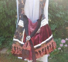 Bohemian+Gypsy+Purse+Victorian+Velvet+and+by+CatzStitchedFantasy,+$76.00