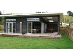 corrugated iron house cladding - and side deck