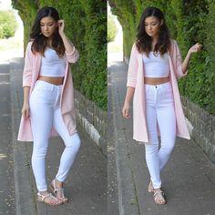 New ideas fashion nova outfits casual crop tops Crop Top Outfits, Casual Summer Outfits, Cool Outfits, Skirt Outfits, High Jeans, High Waist Jeans, Best White Jeans, White Denim, Trendy Fashion