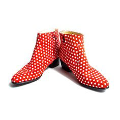 Just for the fun of it! // Beatle Boots Wmns White Polka