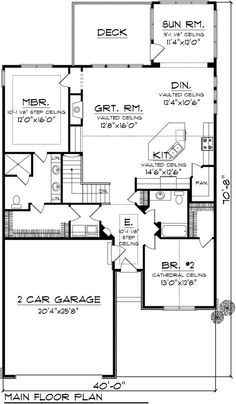 COOL house plans offers a unique variety of professionally designed home plans with floor plans by accredited home designers. Styles include country house plans, colonial, Victorian, European, and ranch. Blueprints for small to luxury home styles. 2 Bedroom House Plans, Ranch House Plans, Best House Plans, Dream House Plans, Small House Plans, Dream Houses, House Rooms, The Plan, How To Plan