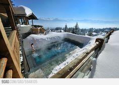 A ski resort in the Alps