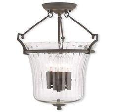 View the Livex Lighting 50925 Cortland 4 Light Semi Flush Ceiling Fixture at LightingDirect.com.
