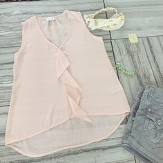 Baby Pink Sheer Summer Tank Top You are viewing baby pink sheer summer tank top. This top is perfect for the summer and can be styled a variety of ways. This item is brand new and has never been worn. Please let me know if you have any questions. Tops Tank Tops