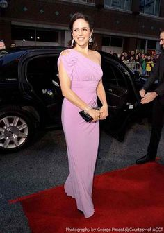 Anna Silk from Lost Girl steps out in a Dalia MacPhee Style at the Gemini Awards. Anna Silk, Lost Girl Fashion, High Fashion, Kris Holden Ried, Female Movie Stars, Celebs, Celebrities, Purple Dress, Beautiful People
