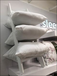 Laddered Pillows Display in JCPenny Sleep Department Cheap Bedding Sets, Bedding Sets Online, Luxury Bedding Sets, Bedding Shop, Linen Bedding, Bed Linens, Kids Comforters, Matching Bedding And Curtains, Bed Linen Design