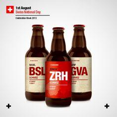 Beertone Basel, Swiss National Day, My Heritage, Beer Bottle, Switzerland, Drinks, Facebook, Artwork, Art Work