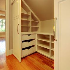 closet for your attic bedroom!