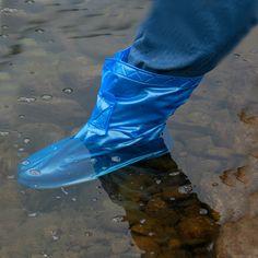 Men Women Shoe Rain Boots Waterproof Rain Shoes Covers Flat Slip-resistant Overshoes Shoes Accessories Size M/L/XL/XXL/XXXL