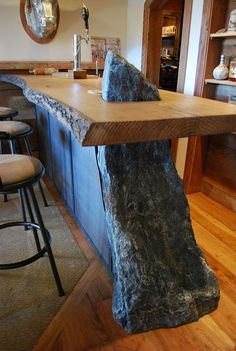 Live edge bar top || Copyright ©  2015 Canadian Heritage Timber Company || http://www.canadianheritagetimber.com/