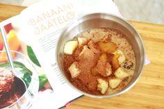 Homemade banana-chocolate ice cream