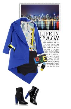 """""""Life in Color"""" by shortyluv718 ❤ liked on Polyvore featuring Antonio Berardi, H&M, Dion Lee, Carvela, Carvela Kurt Geiger, Les Petits Joueurs, Revo and Casetify"""