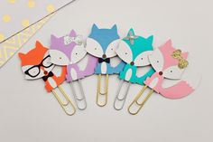 FX 001 FOX Planner Clips by RedLyrics on Etsy