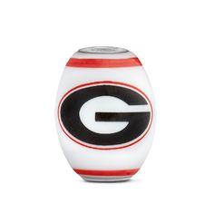 Georgia Collegiate Milk Glass Cornerstone Bead