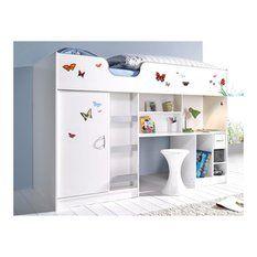 lit mezzanine ladys lit enfant sur lev couchage 90 x 200 cm lit combin pinterest dame. Black Bedroom Furniture Sets. Home Design Ideas