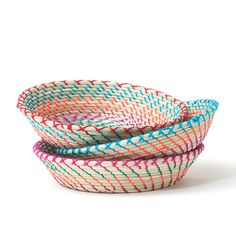 Colorful woven basket from Chiapas