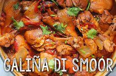 Deze heerlijke, gesmoorde kip op Antilliaanse wijze MOET je een keer maken! Door de groenten en specerijen krijgt de galiña di smoor een speciale smaak.