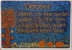 October Chalkboard