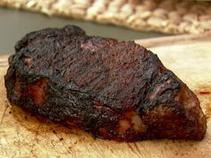 New York Strip Steak with Spicy Coffee Rub Recipe : Food Network - FoodNetwork.com
