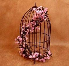 lanterna luminária gaiola lustre decoração flor vela ferro
