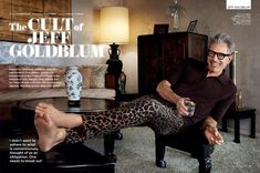 Jeff Goldblum Stars in British GQ Magazine July 2018 Issue