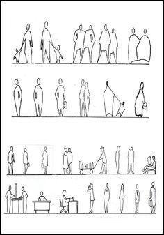 Resultado de imagen de architecture people drawings silhouettes plan