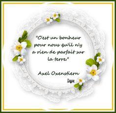 Citation d'Axel Oxenstiern: Tel qu'on est (avec texte) - Frawsy