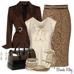 """Burberry Lace Skirt"" by brendariley-1 on Polyvore"