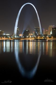 St.louis Arch Reflection Photograph