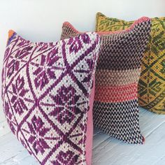 Because you can never have too many throw cushions, right?  #Cambie #Design #Peru #Peruvian #Wool #Handmade #Handwoven