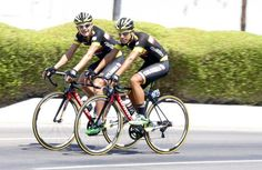Abu Dhabi Tour 2015.Team Colombia out training
