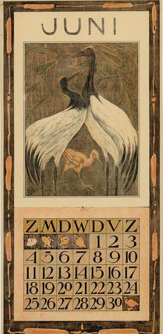 Theodoor van Hoytema, calendar 1905 June
