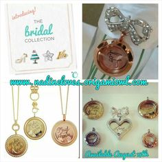 I'm looking forward to this new collection especially for the piece that is a bow pin that holds amy size locket.  It is meant to attach to a bouquet, however think it will be a big hit with people that don't like to wear necklaces and can wear it like a broach because it pins anywhere!   www.nadineloves.origamiowl.com