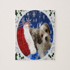 Cavachon Puzzle Christmas Jigsaw Puzzle - dog puppy dogs doggy pup hound love pet best friend