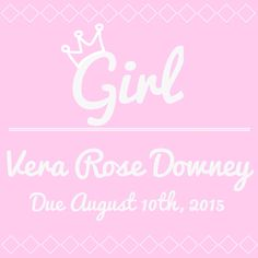 gender & baby name announcement made with the Phonto app! Had so much fun making this :)