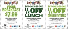 Kahunaville Restaurant and Bar Breakfast, Lunch and Dinner Discounts Coupon.