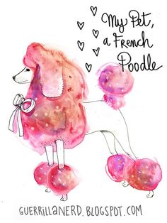 french poodle. Poodles are really german in origin, but I LOVE the colors in this! It's beautiful!