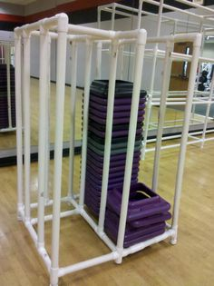 Make A Portable Pvc Storage Rack With Casters For Paintings... Pvc Storage,