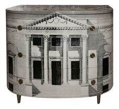 I basically want to steal this idea from the master for a temporary radiator cover. Fornasetti Sideboard