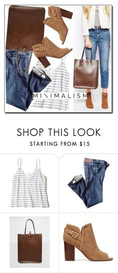 """""""Minimalism"""" by leathersatchel ❤ liked on Polyvore featuring Hollister Co., Citizens of Humanity, The Leather Satchel Co. and Sam Edelman"""