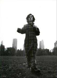 Robin Tuney by Michel Comte for Italian Vogue November 1996.