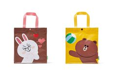 #LINE FRIENDS #BROWN #CONY Character Multi-Purpose #ToteBag (2Types) #LINEPLUS #ToteBagEcobagTrickorTreatBag