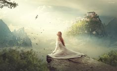 Clouds Kingdom Photoshop Manipulation Tutorial Compositing Process - rafy A