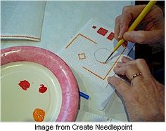 Tutorial: Design and paint needlepoint canvas · Needlework News | CraftGossip.com