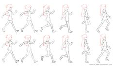 Animation Keyframes by AlxBMP Animation Walk Cycle, Jump Animation, Walking Animation, Flash Animation, Animation Sketches, Animation Reference, Animation Film, Character Design Animation, Character Design References