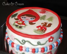 Little Red Riding Hood cake using art by @Maria Canavello Mrasek Canavello Mrasek Danalakis