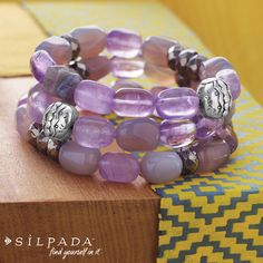 COLOR CRUSH: Ultraviolet Stretch Bracelet #Silpada